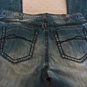 B. Tuff Jeans Work Hard Boot Cut Men's Blue Jeans